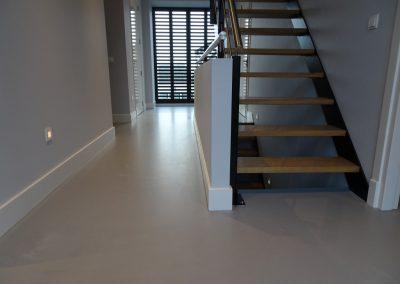 PU betonlook gietvloer Van Tol Vloeren