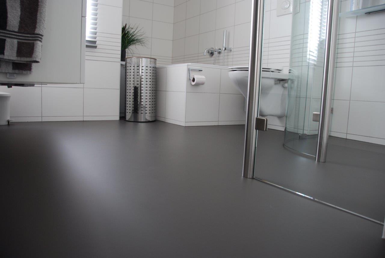 gietvloer badkamer woonhuis cuijk - van tol vloeren, Badkamer
