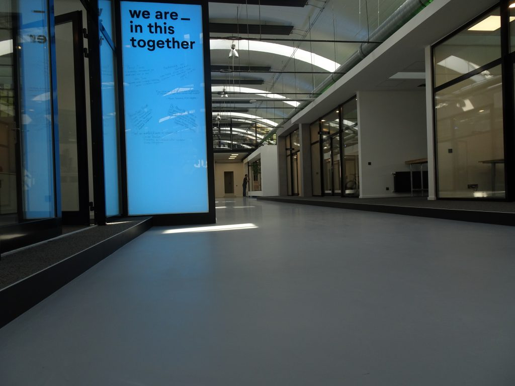 PU gietvloer Splendor Fabriek Nijmegen