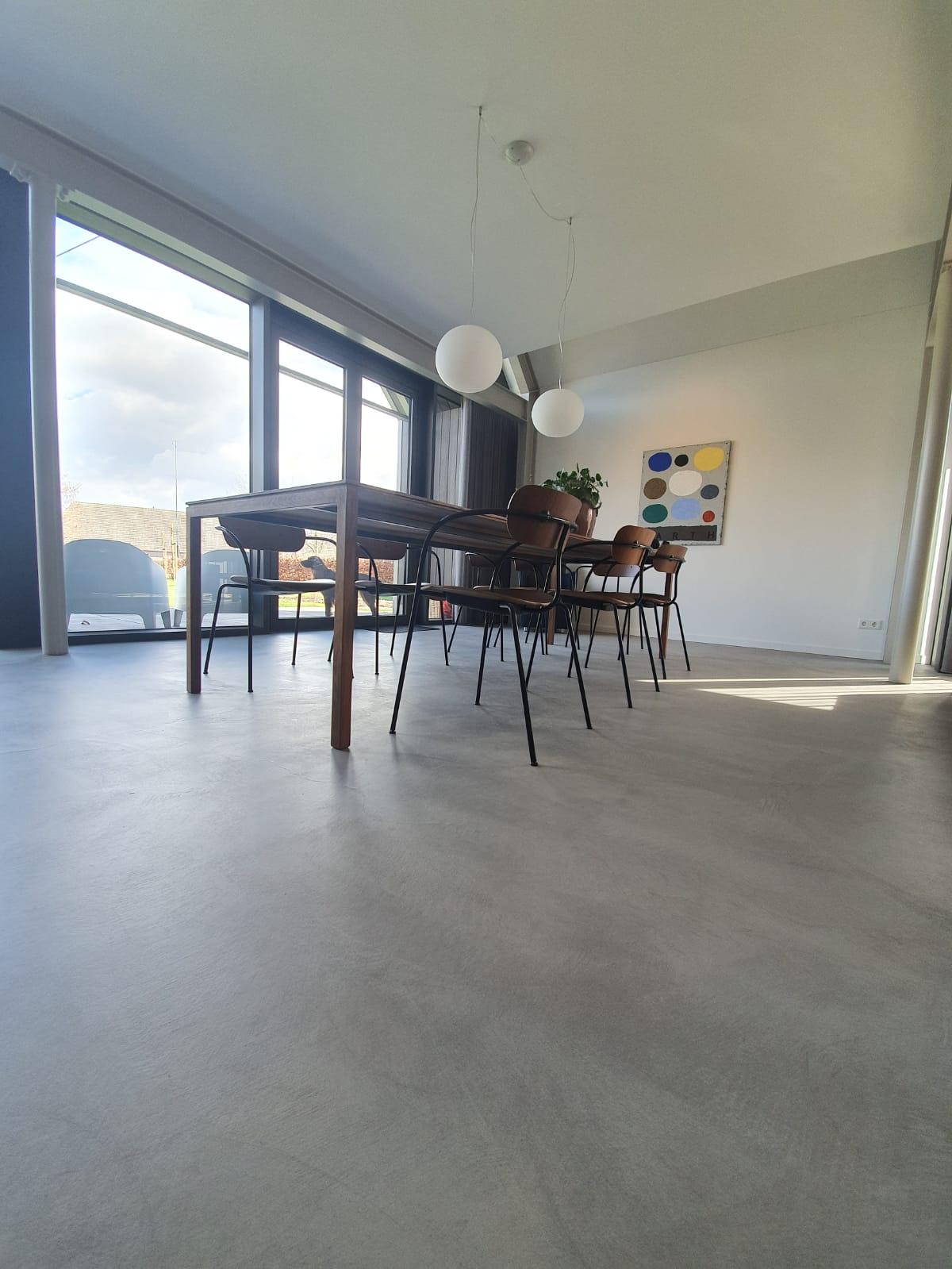 Cementgebonden gietvloer Nuenen 2 | Van Tol Vloeren